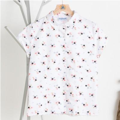Mangrove, short-sleeves printed blouse