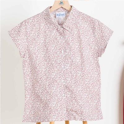 Mia, short-sleeves printed blouse