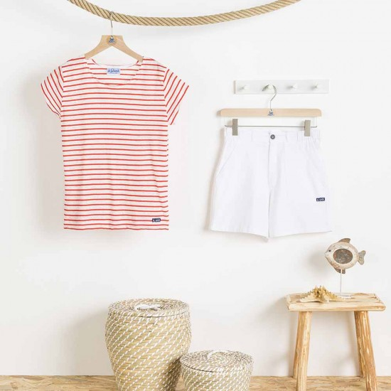 Zée, linen/coton stripped T-shirt