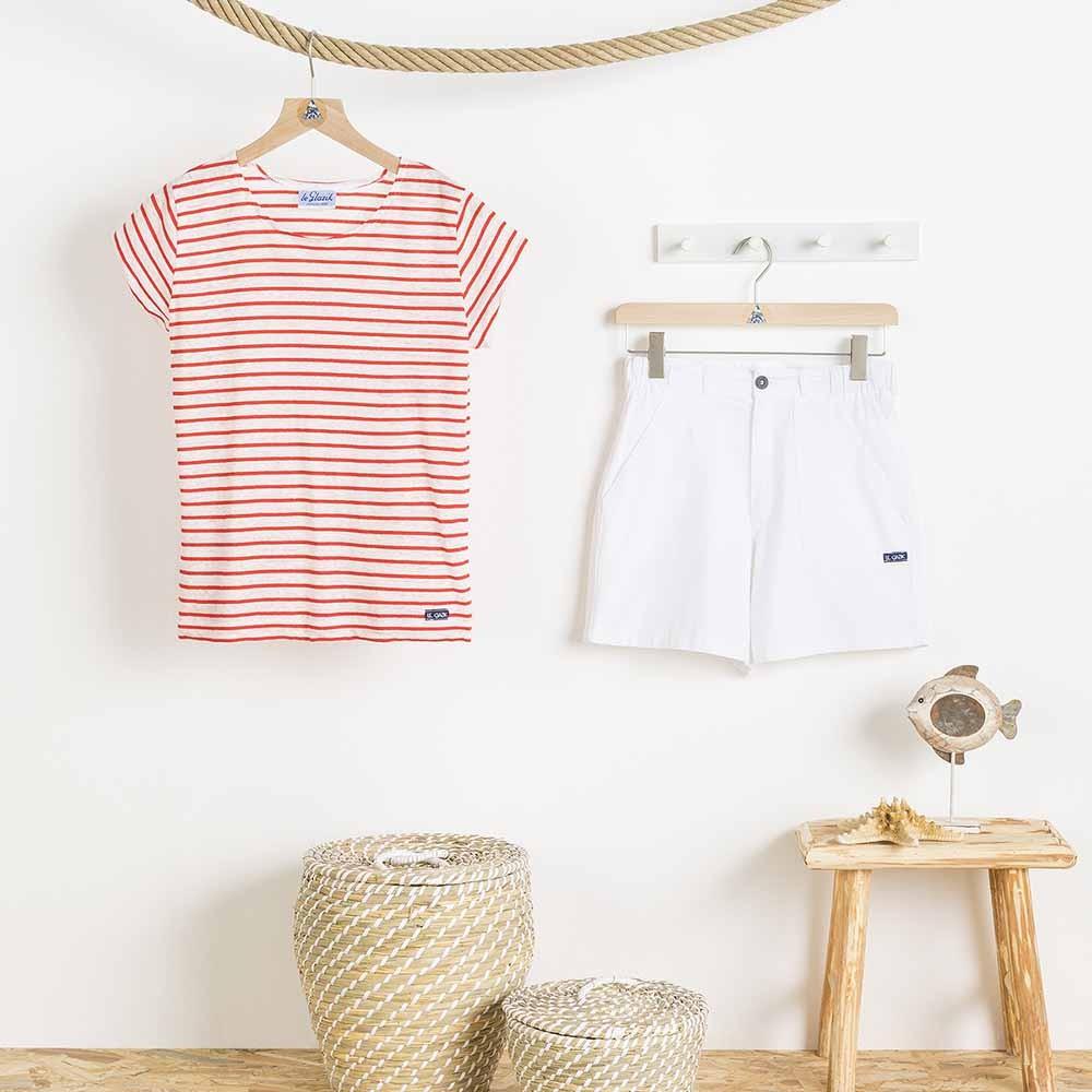 Zée, linen/coton stripped T-shirt