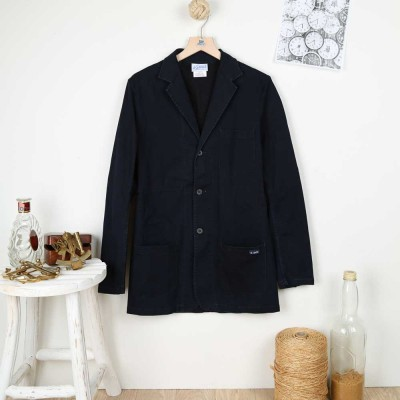 Fronsac, stretch denim blazer in genuine waid Le Glazik