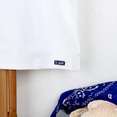 Tropique, T-shirt jersey à col en V made in France Le Glazik zoom