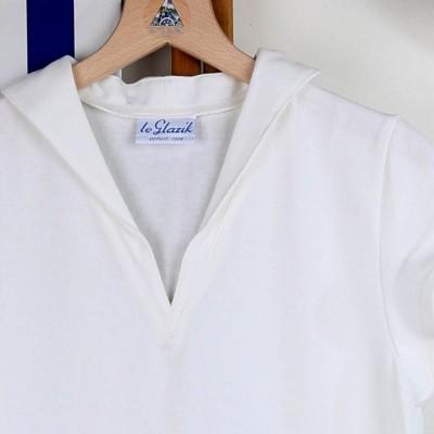 Tropique, T-shirt jersey à col en V made in France Zoom