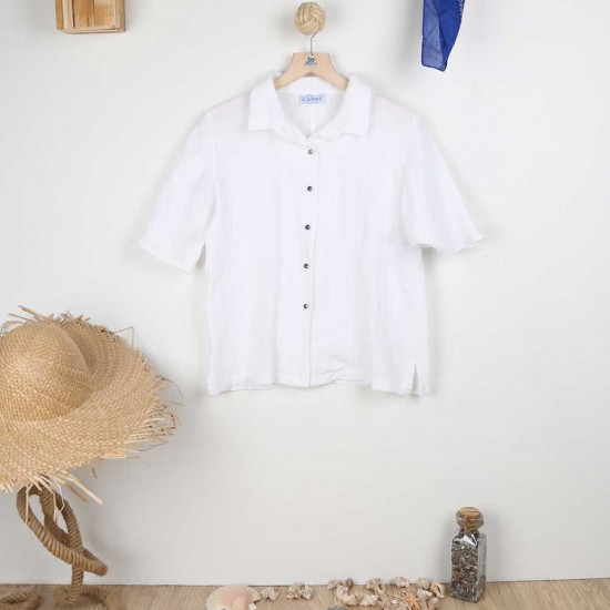 Mohawk, Linen Blouse with...