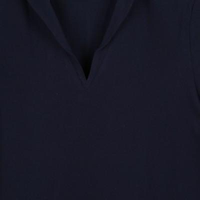 Tropique, T-shirt jersey à col en V made in France  col