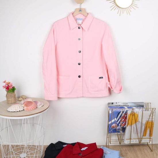 Flore, Jacket in stretch canvas Dragée