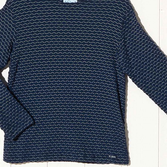 Evran, light sweater with embossed stitch zoom