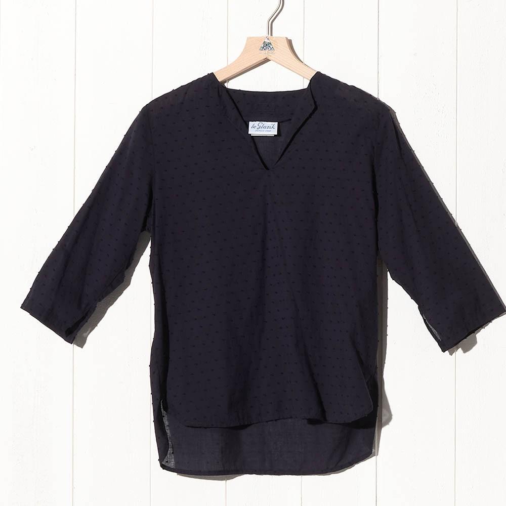 Vestale, Pitch Sailor smock in very light fabric Le Glazik