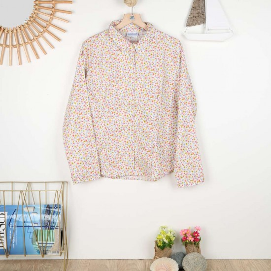 Méroé, 100% organic cotton printed blouse