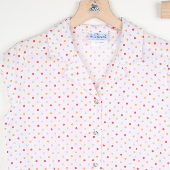 Martine, 100% cotton colored spots