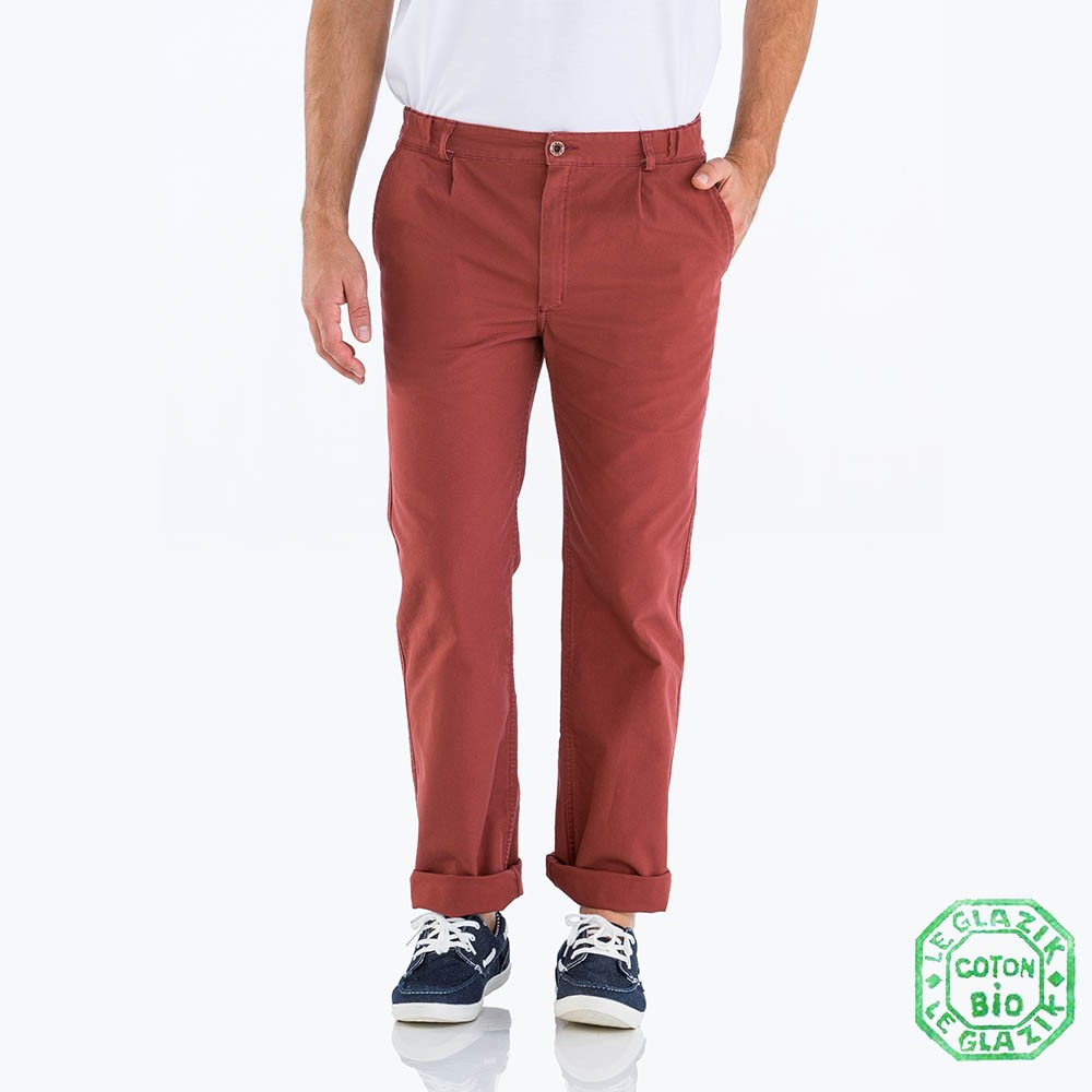 Pornichet men's pants brique authentic