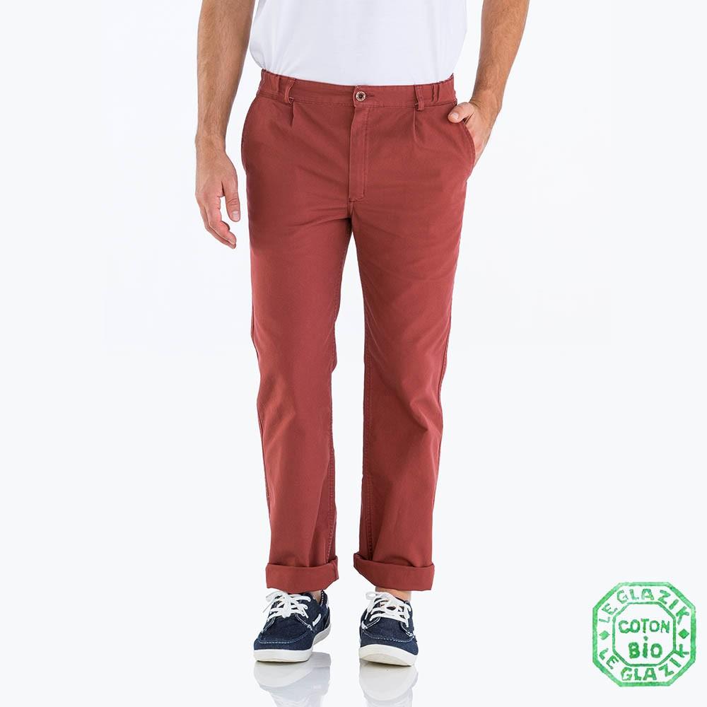 Pornichet Pantalon Homme Le Glazik Brique
