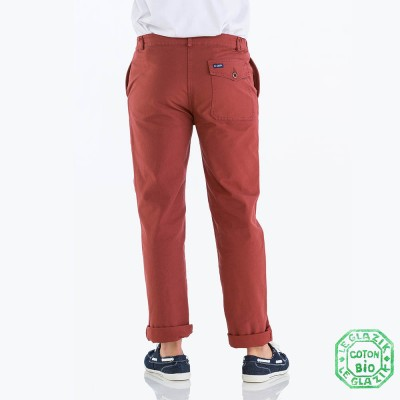 Organic cotton men pants seaside sailor