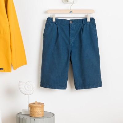 Blley Bermuda Shorts Indigo Le Glazik