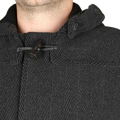 collar Guillaume Duffle Coat Chevron Le Glazik
