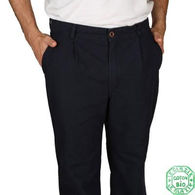 Pantalon Homme Pornic Coton Bio Navy