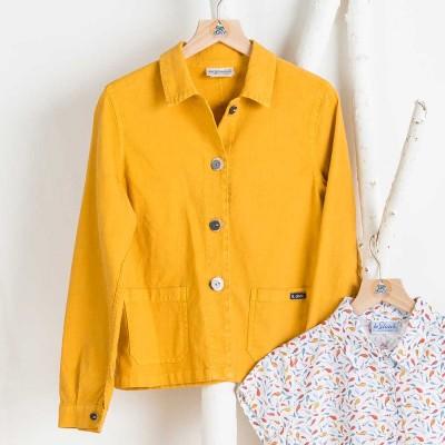 Faenza women jacket linen and cotton mais color