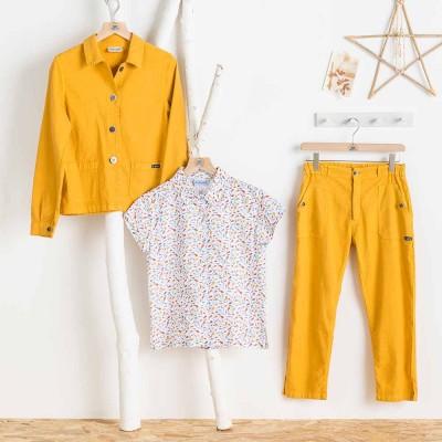 Veste et pantalon Faenza mais lin coton Le Glazik