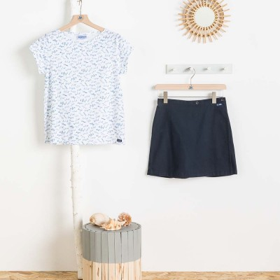 Women skirt ziga with tshirt