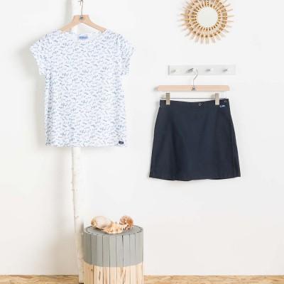 Women skirt ziga with tshirt