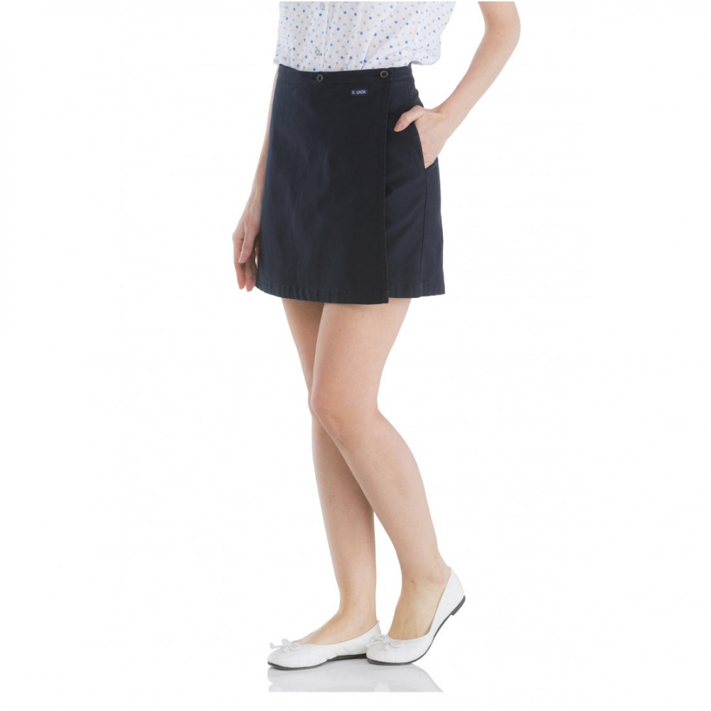 Skirt woman Ziga Navy Half Thigh Le Glazik