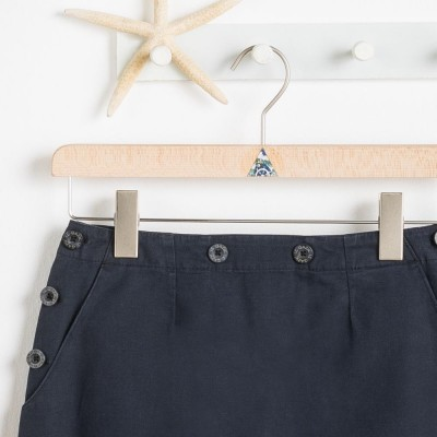 button arz deck skirt navy