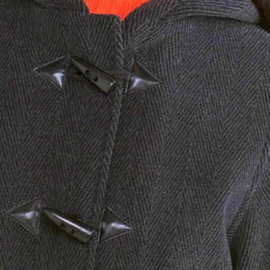 Tissu chevron duffle coat Argos