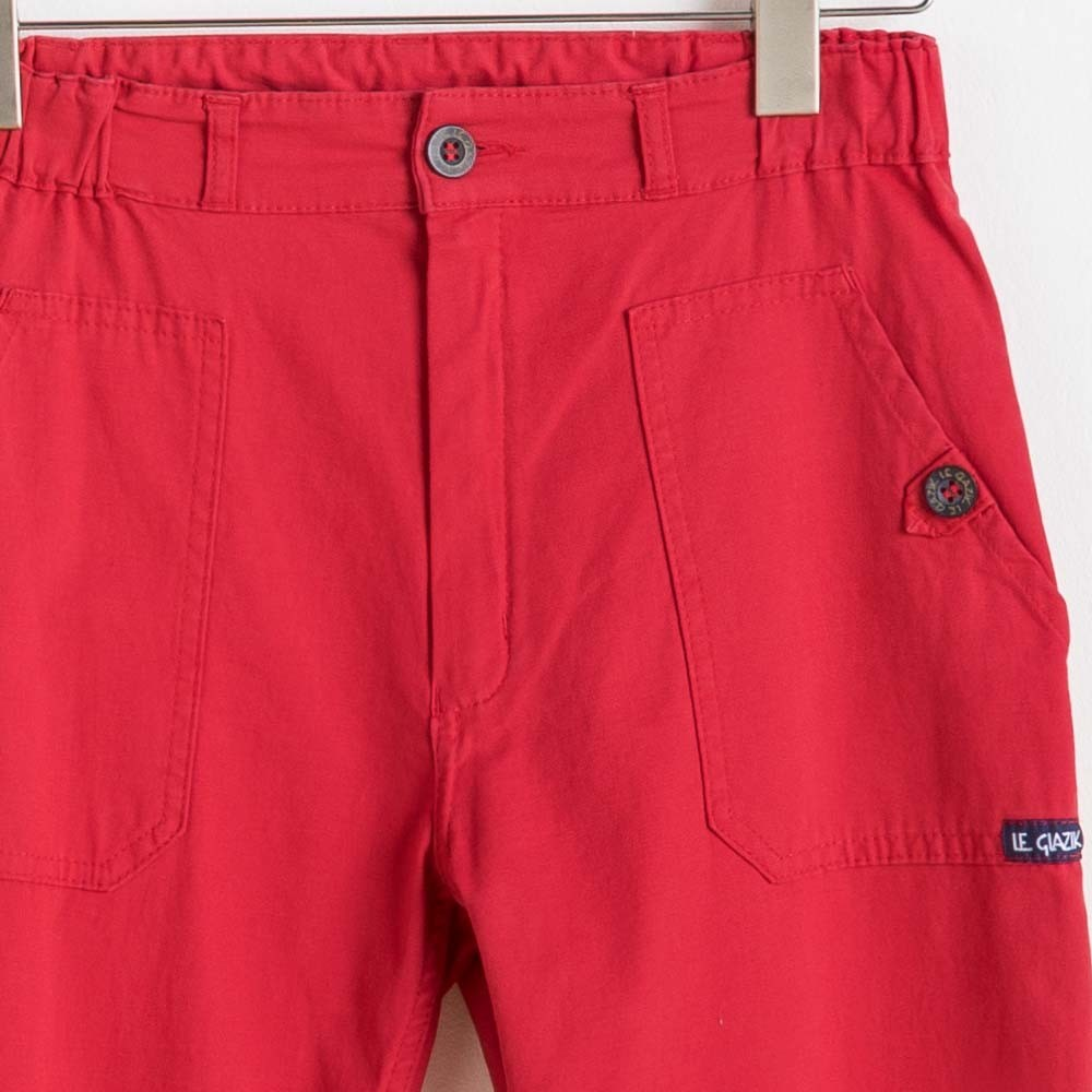 Bouton et poches Pinta Pantacourt femme Le Glazik corail