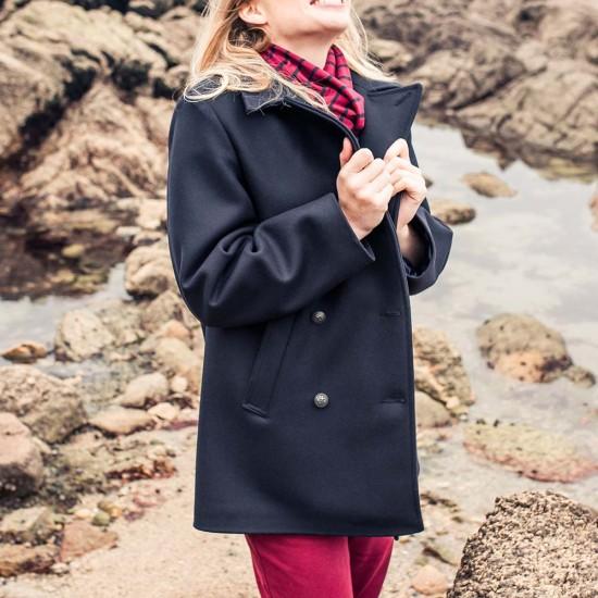 Women Marine Authentic Pea Coat Le Glazik Mode