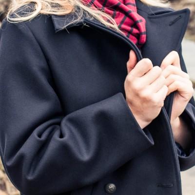 Women Marine Authentic Pea Coat LE Glazik bretanny
