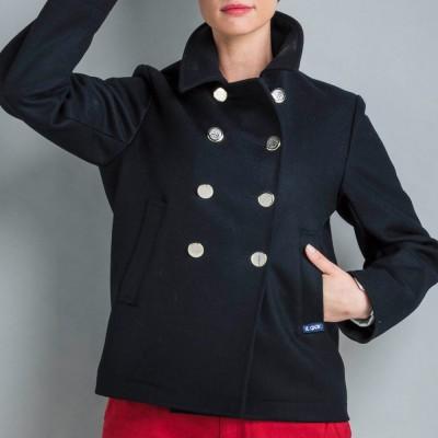 Caban bisou mode 100% laine Le Glazik fashion