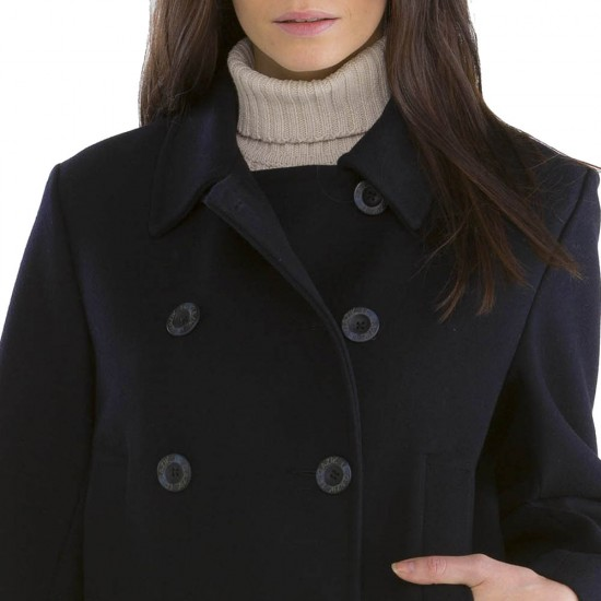 Women collar Bisquine Pea Coat