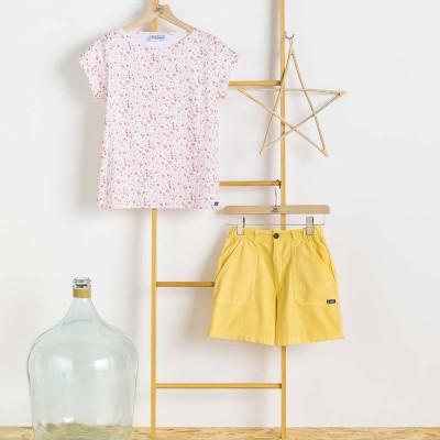 Women short Odet Pamplemousse and blouse