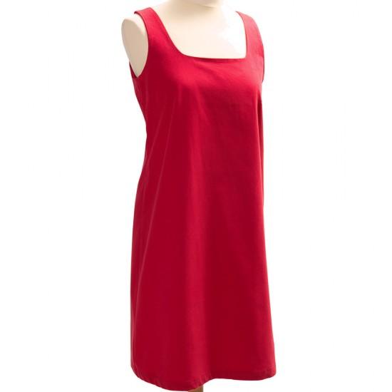 Melusine Robe Le Glazik coton rouge corail