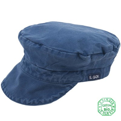 Organic Cotton Le Glazik Sailor Cap Indigo