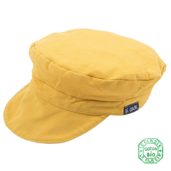 Organic Cotton Le Glazik Sailor Cap Jaune