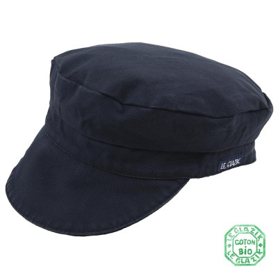 Organic Cotton Le Glazik Sailor Cap Navy