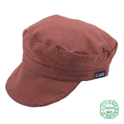 Organic Cotton Le Glazik Sailor Cap Brique