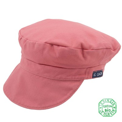 Organic Cotton Le Glazik Sailor Cap Crevette