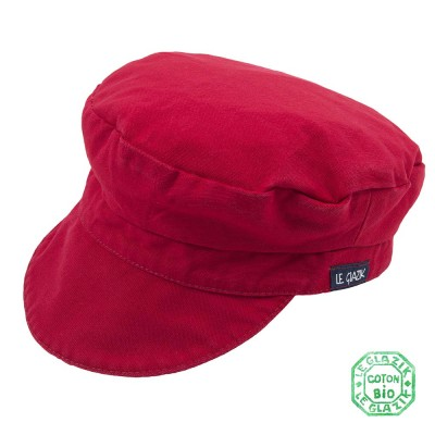 Organic Cotton Le Glazik Sailor Cap Kermes