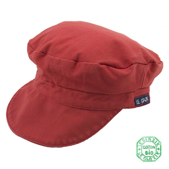 Organic Cotton Le Glazik Sailor Cap Rouge