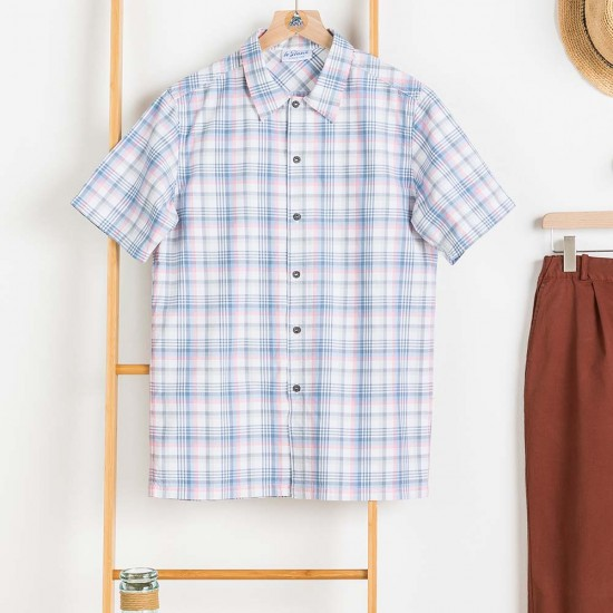 Chemise à carreaux blanchi Le Glazik Capbreton