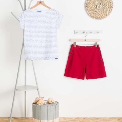 T-shirt may Le Glazik woman fantasy and shorts