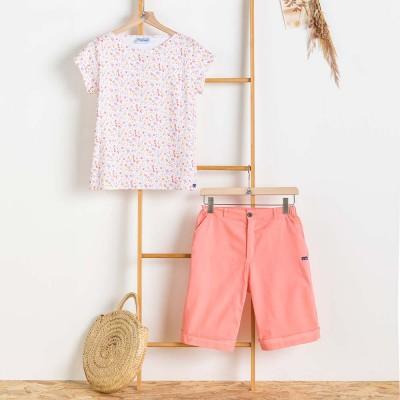 T-shirt woman the Glazik Kanaris and Bermuda shorts