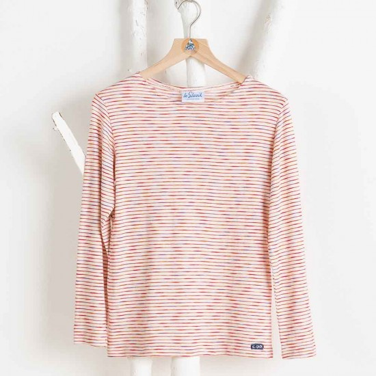 Enée, T-shirt manches longues à rayures pailletées
