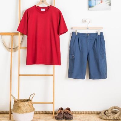 Zeno, T-shirt 100% cotton with Le Glazik logo Hermes with shorts