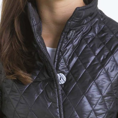Alice, Double-sided quilted jacket collar