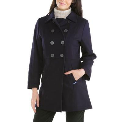 Bellonne, Manteau trois-quarts avec double boutonnage Le Glazik Prune