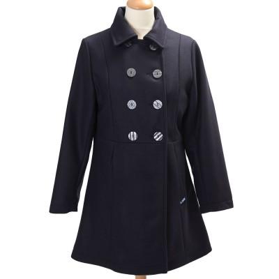 Bellonne, Manteau trois-quarts avec double boutonnage Le Glazik Marine