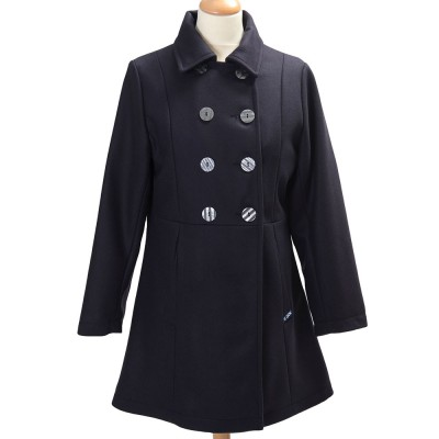 Bellonne, Three-quarter coat with double buttoning Marine